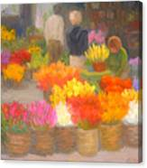Tending Flowers - Amsterdam Canvas Print