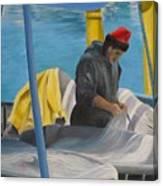 Tending Nets Canvas Print