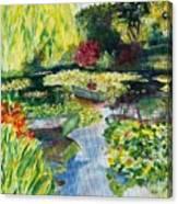 Tending The Pond Canvas Print