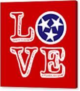 Tennessee Flag Love Canvas Print