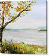 Tennessee River In The Fall Canvas Print