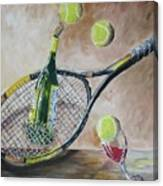 Tennis And Wine Canvas Print