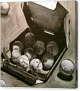 Tennis Balls In A Pizza Box Precisely Canvas Print