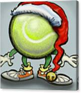 Tennis Christmas Canvas Print