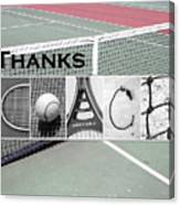 Tennis Coach Alphabet Art Canvas Print