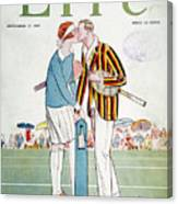 Tennis Court Romance, 1925 Canvas Print