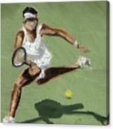 Tennis In The Sun Canvas Print