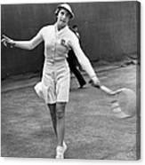 Tennis Star Katherine Stammers Canvas Print