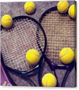 Tennis Still Life 3 Canvas Print