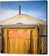 Tent In The Desert Ulaanbaatar, Mongolia Canvas Print