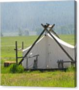 Tent Living Montana 2010 Canvas Print