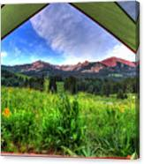 Tent View Canvas Print