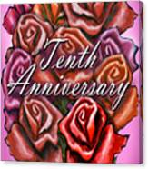 Tenth Anniversary Canvas Print