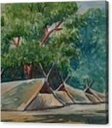 Tents Under Tree Canvas Print