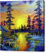 Tequila Sunrise In The Swamp Canvas Print