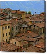 Terra-cotta Roofs Barga Vecchia Italy Canvas Print