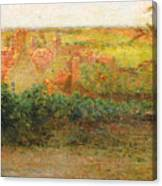 Terrace, Sun, Gerberoy Canvas Print