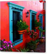 Terrace Windows At Casa De Leyendas By Darian Day Canvas Print