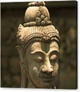Terracota Statue Head Canvas Print