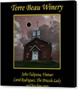 Terre Beau Winery 2017 Eclipse Poster Canvas Print