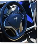 Tesla S85d Cockpit Canvas Print