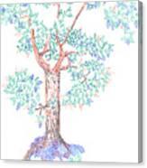 Tesselated Tree Canvas Print
