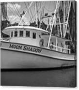 Moon Shadow Working Boat Canvas Print