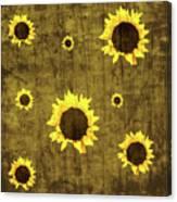 Test Rustic Sunflower Custom Canvas Print