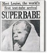 Test-tube Baby, 1978 Canvas Print