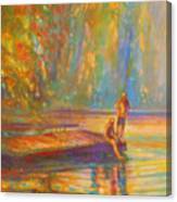 Testing The Water Canvas Print