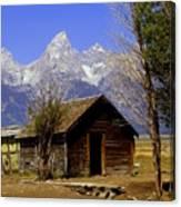 Teton Cabin Canvas Print
