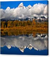 Teton Cloud Swarm Canvas Print