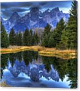 Teton Dawn Reflection Canvas Print