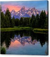Teton Mornig Glow  Canvas Print