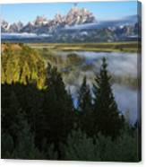 Teton Morning Snake River Overlook Canvas Print