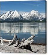 Teton Range Reflections Canvas Print