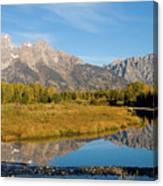 Teton Reflections Canvas Print