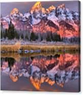 Teton Sunrise Spectacular Canvas Print