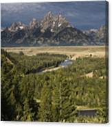 Teton Valley Snake River Canvas Print