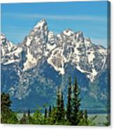 Tetons Across The Valley Canvas Print