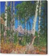 Tetons And Aspens Canvas Print