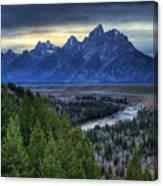 Tetons And Snake River Canvas Print