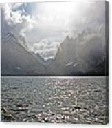 Tetons At Jenny Lake Canvas Print