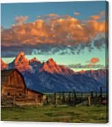 Tetons Barn Canvas Print