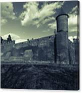 Teutonic Castle In Szymbark In Monochrome Canvas Print