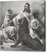 Tewodros Holding Audience, Surrounded Canvas Print
