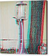 Texaco Gas Pump - Use Red-cyan 3d Glasses Canvas Print