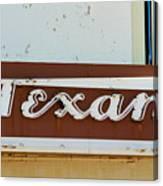 Texan Movie Theater Sign Canvas Print
