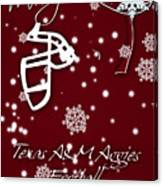 Texas Am Aggies Christmas Card Canvas Print