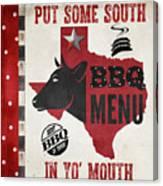 Texas Barbecue 4 Canvas Print